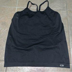 Champion black tank w/ built in bra